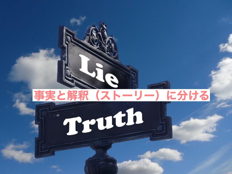 事実と解釈に分ける